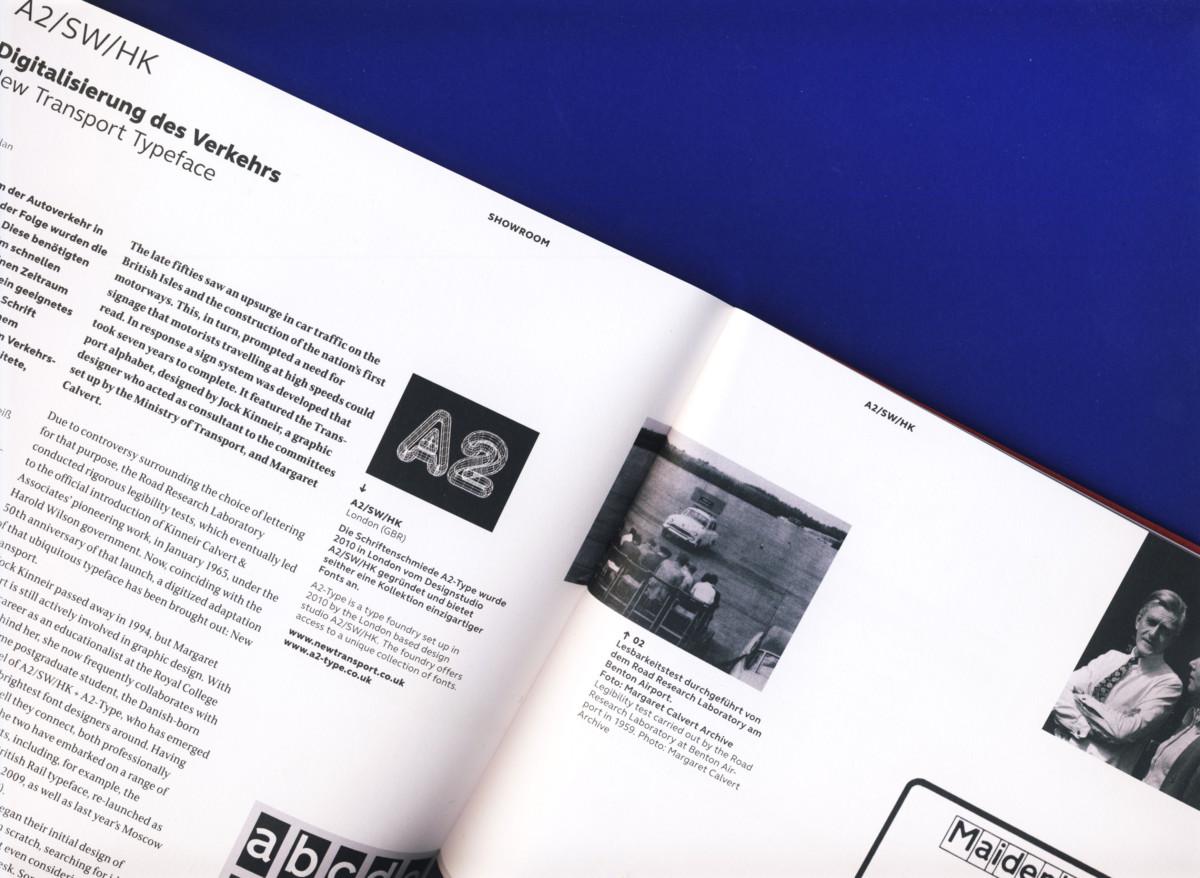 Photograph of editorial magazine spread