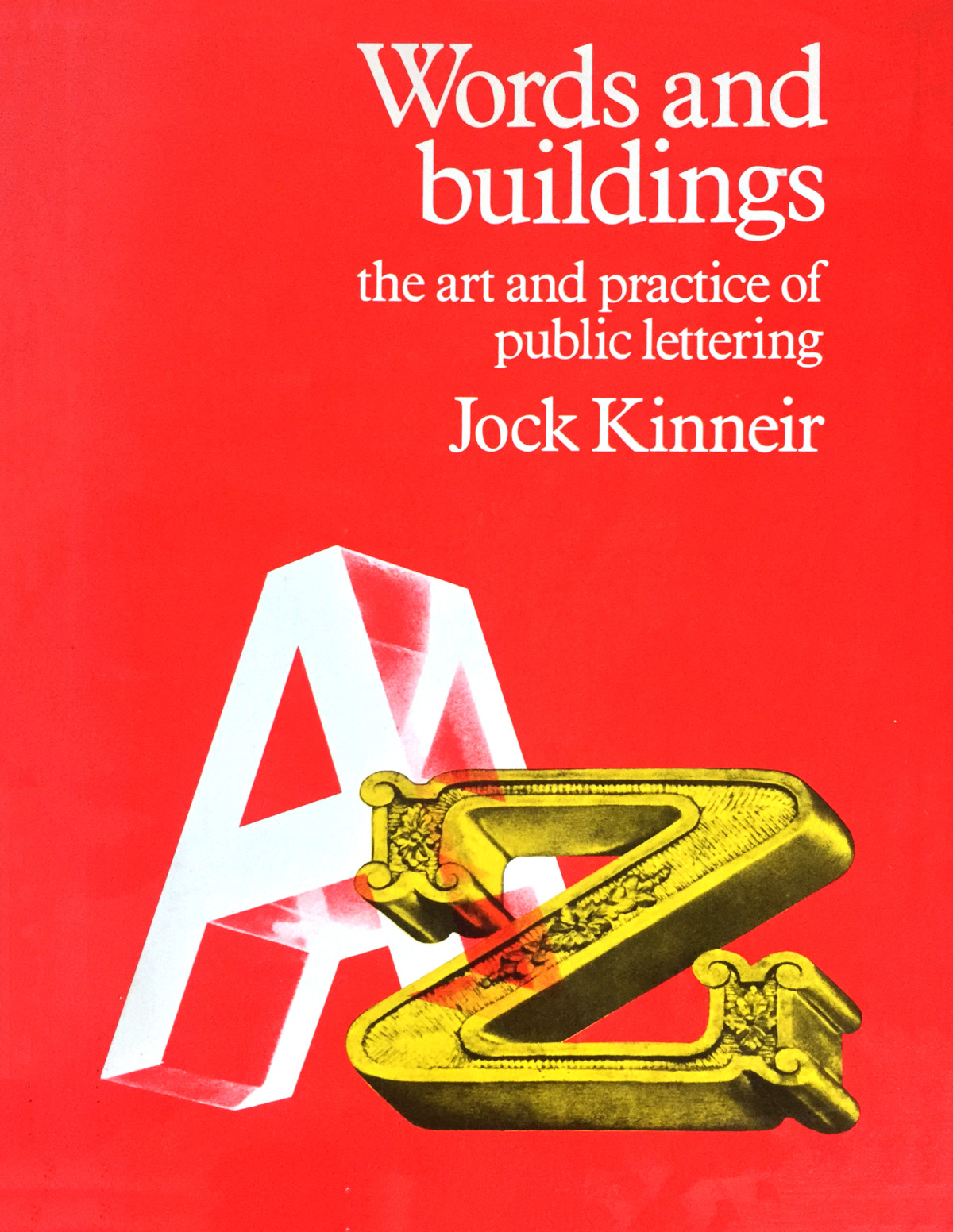 "Cover of ""Words and Buildings"" by Jock Kinneir"