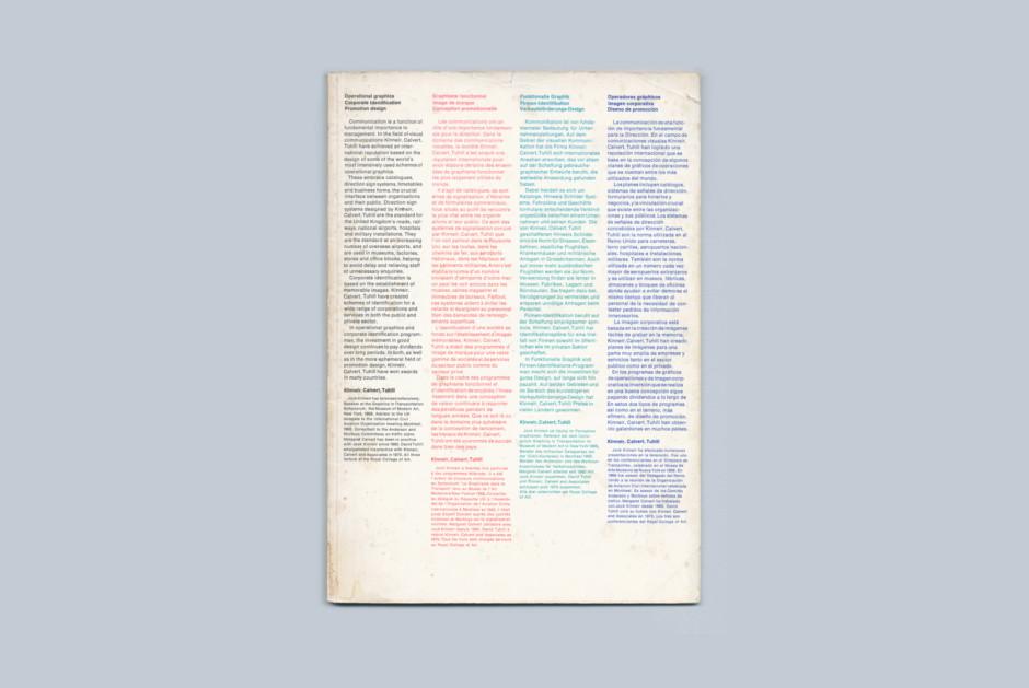 Kinneir Calvert Tuhill brochure, 1971